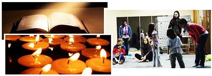 фото свечей, открытой книги и детей: сценарий пижамной вечеринки для девочек
