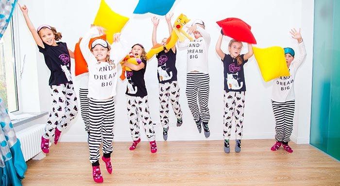 детская пижамная вечеринка