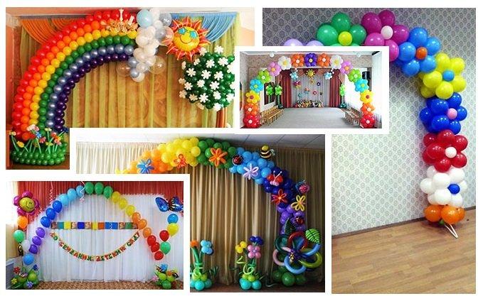 фото арок на выпускной в детском саду: оформление выпускного в детском саду