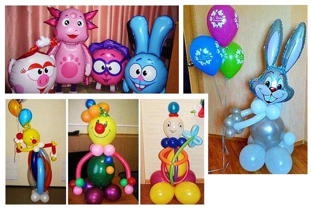 фото мультяшных героев из воздушных шаров: оформление выпускного в детском саду