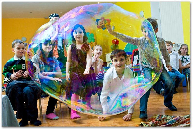 Шоу мыльных пузырей на день рождения ребенка своими руками