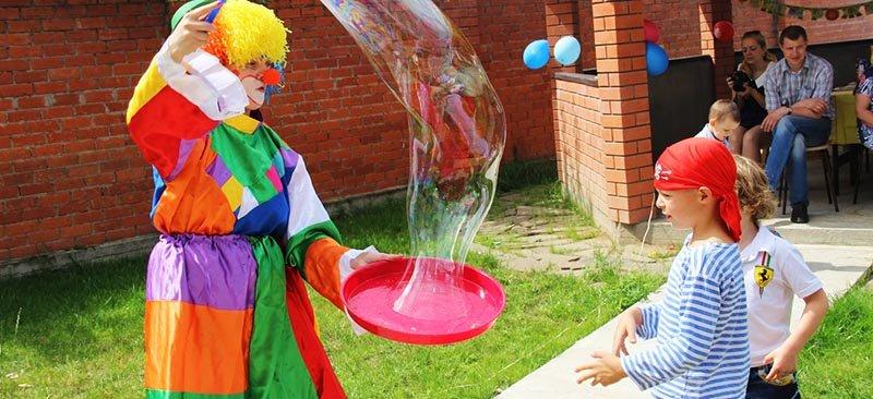 шоу мыльных пузырей на день рождение