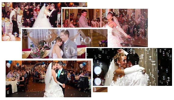 шоу мыльных пузырей на свадьбу