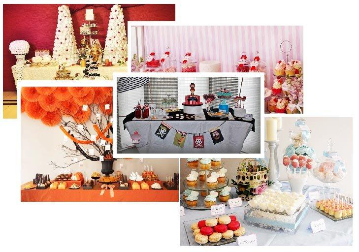 фото нарядного  стола со сладостями: сandybar своими руками