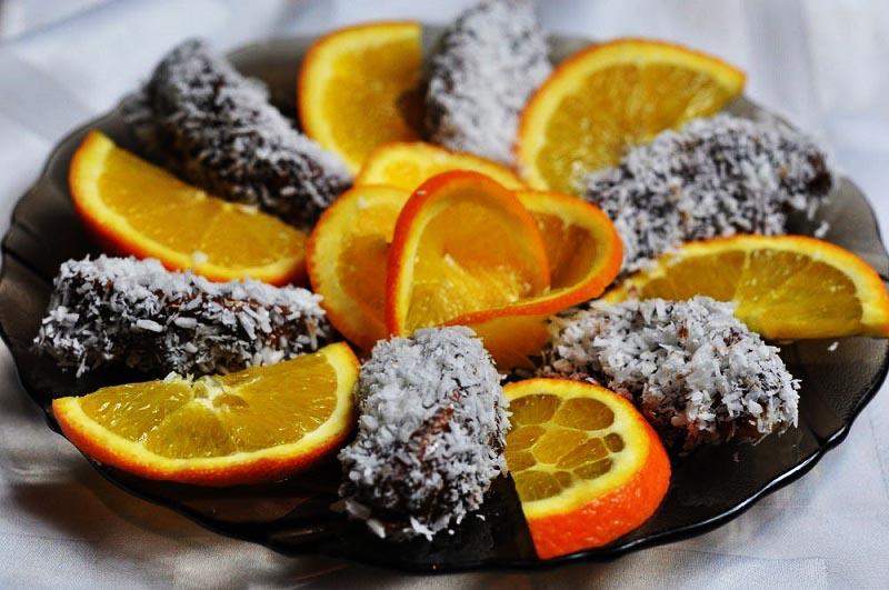 фото апельсинов в шоколаде: меню пижамной вечеринки