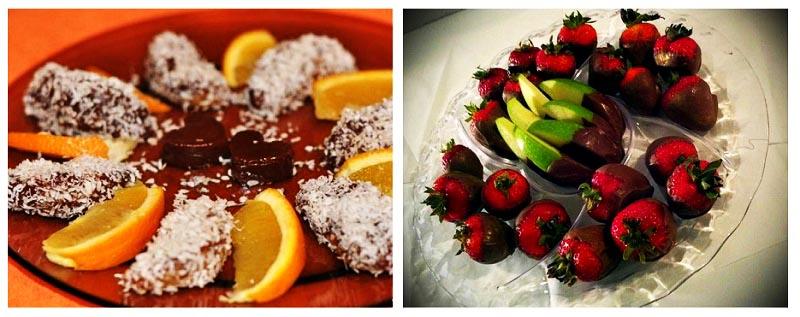 фото апельсинов и клубники в шоколаде: меню для пижамной вечеринки