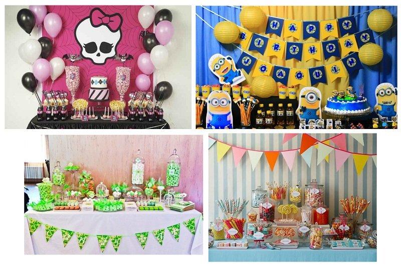 фото стилей оформления кэнди бара на детский день рождения