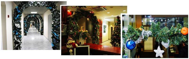 фото арок из еловых веточек: оформление новогоднего корпоратива