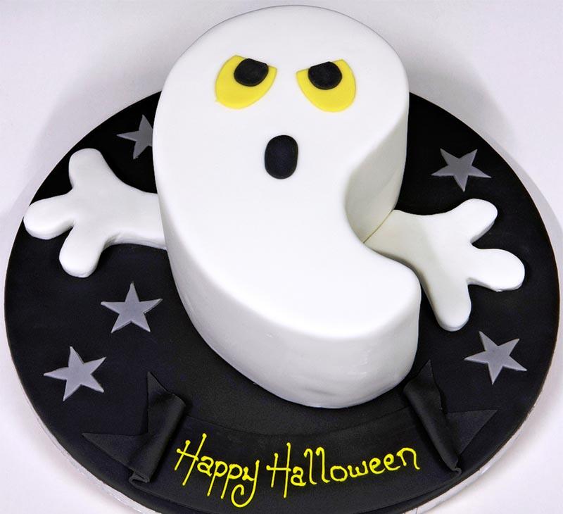 фото торта в виде привидения: сладкое оформление хэллоуина