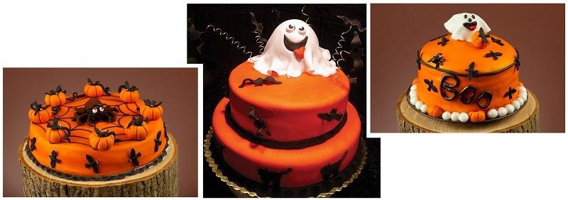 фото торта в виде привидения: сладкое оформление хэллоуина №2