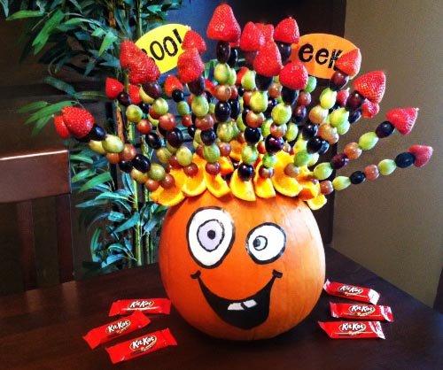 фото подставки форме тыквы: сладкое оформление хэллоуина