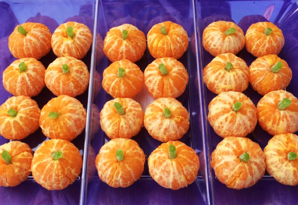 фото мандарин: сладкое оформление хэллоуина