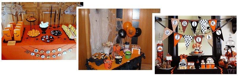 фото оформления сладкого стола: сладкое оформление хэллоуина