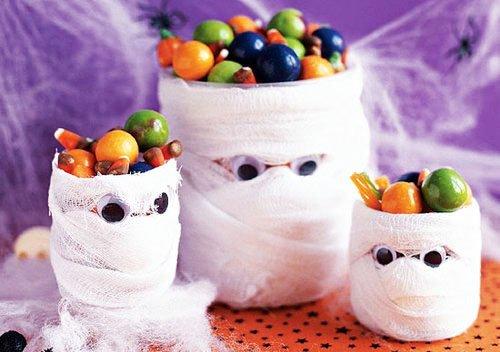 фото мумии на стол: сладкое оформление хэллоуина