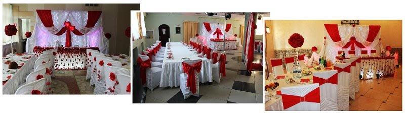 фото оформления столов и стульев на свадьбу в красном цвете: оформление свадьбы в красном цвете