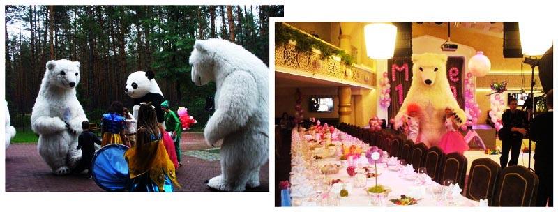 фото ростовой куклы белого ведмедя: ростовая кукла на день рождения