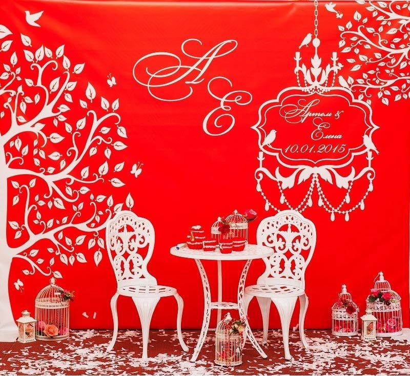 оформление фотозоны на свадьбу в красном цвете: оформление свадьбы в красном цвете