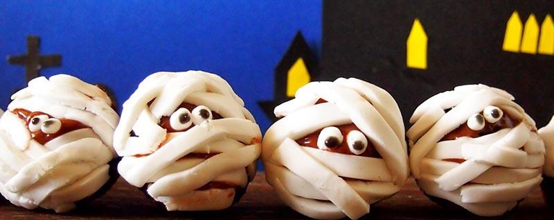 фото блюда мумия: сладкое оформление хэллоуина
