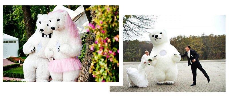ростовые куклы: белый медведь