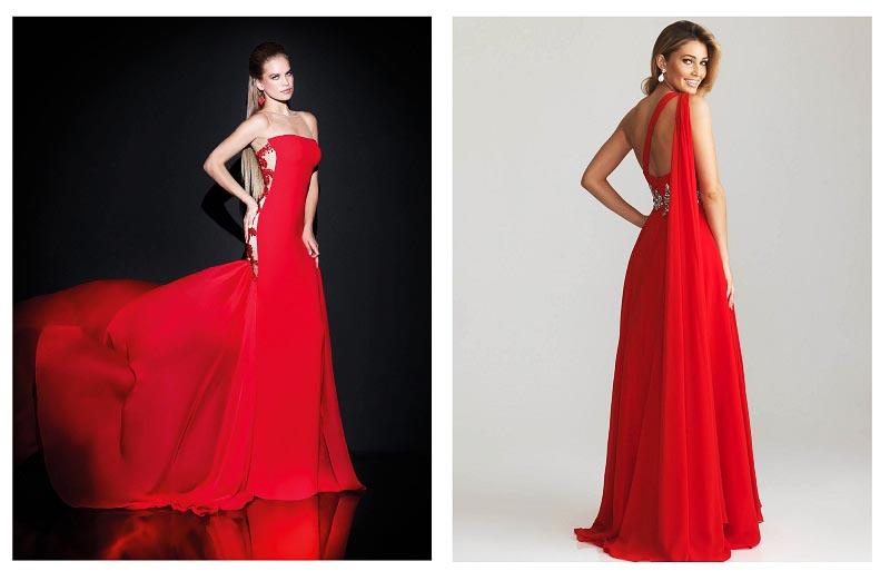 фото красного платья на свадьбу: оформление свадьбы в красном цвете