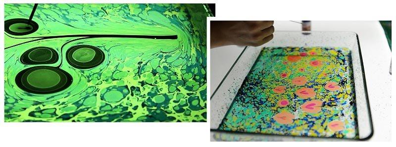 фото рисунков на воде: шоу эбру в подарок