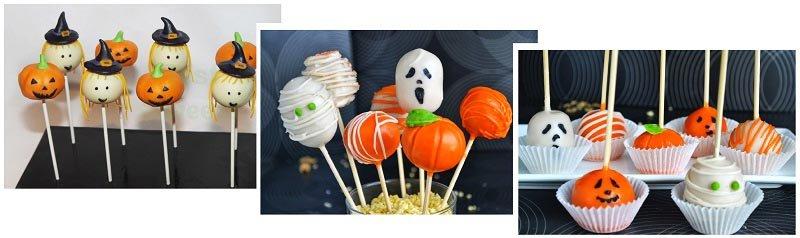 фото пирожных на палочках: сладкое оформление хэллоуина №2