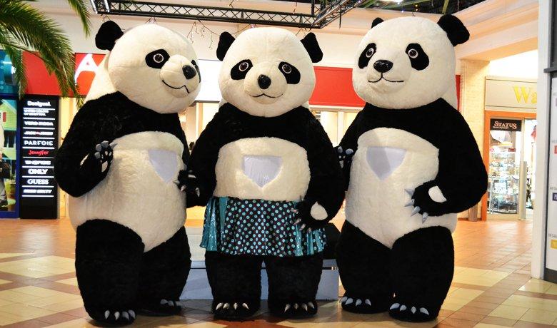 ростовые куклы: панды