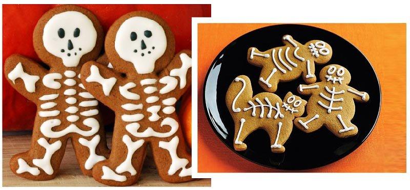 фото фигурок из песочного теста: сладкое оформление хэллоуина