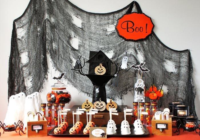 сладкое оформление хэллоуина