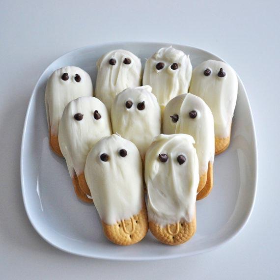 печенья в форме привидения: сладкое оформление хэллоуина