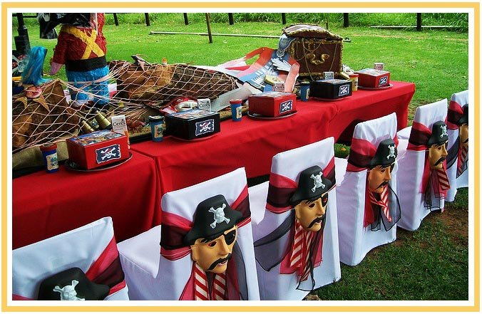 фото декора мебели на пиратскую вечеринку: пиратская вечеринка оформление