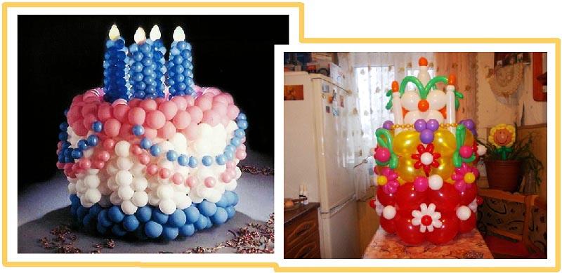 фото торта из воздушных шаров на юбилей: оформление юбилея шарами
