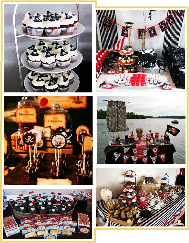 фото вариантов оформления кэнди бара на пиратскую вечеринку: пиратская вечеринка оформление