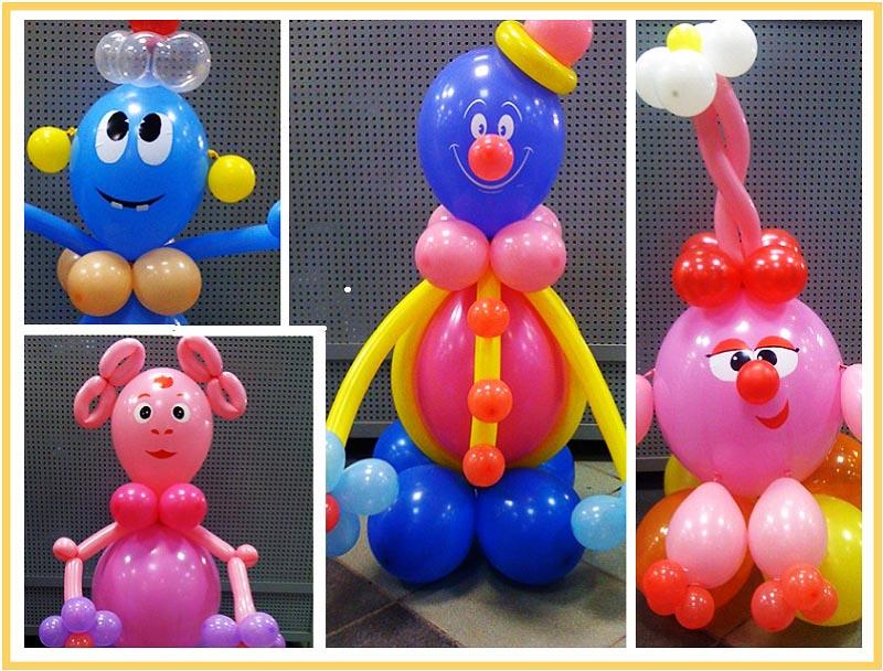 фото забавных человечков из воздушных шаров на юбилей: оформление юбилея шарами