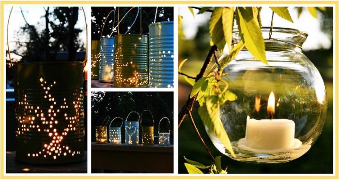 фото фонариков для отдыха на природе: день рождения на природе оформление
