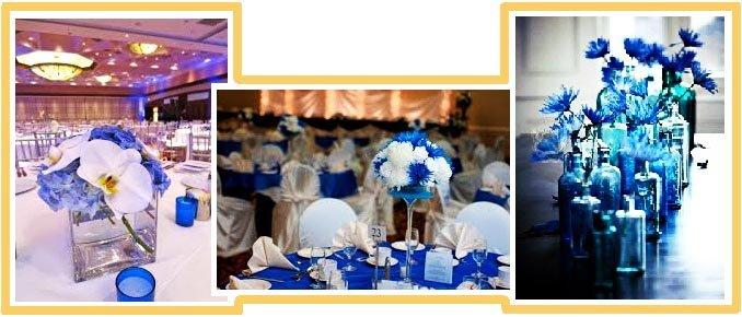 фото оформления свадьбы цветами в синем цвете: оформление свадьбы в синем цвете
