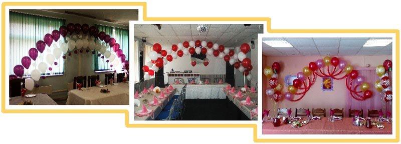фото арок из воздушных шаров на юбилей: оформление юбилея шарами