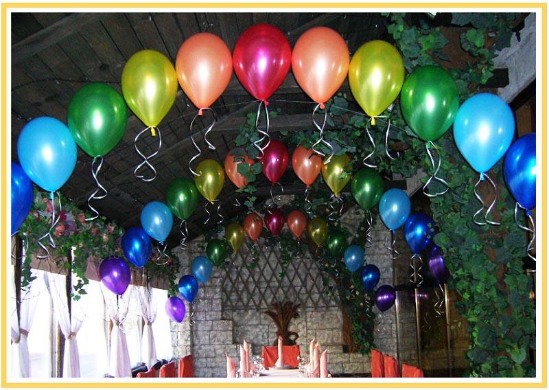 фото арки из воздушных шаров на юбилей: оформление юбилея шарами №2