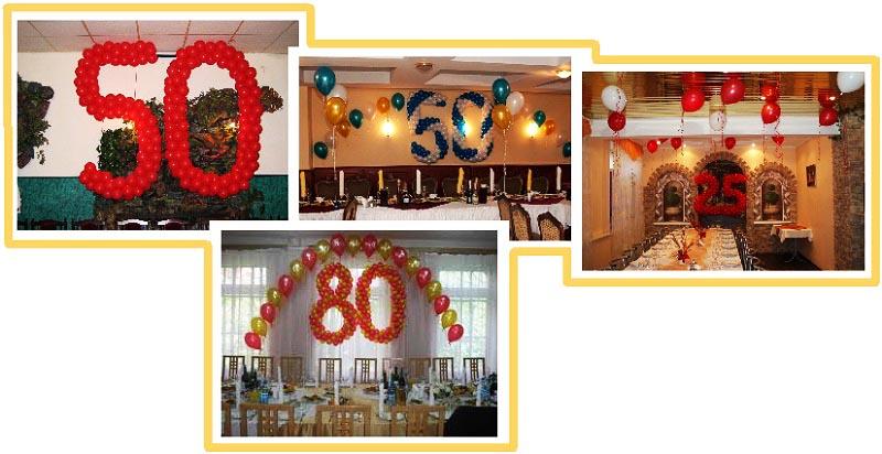 фото оформления юбилейной даты шарами: оформление юбилея шарами