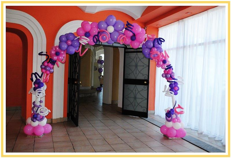 фото арки из воздушных шаров на юбилей: оформление юбилея шарами №3