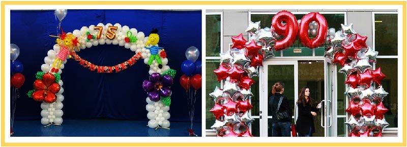 фото арок из воздушных шаров на юбилей: оформление юбилея шарами №4