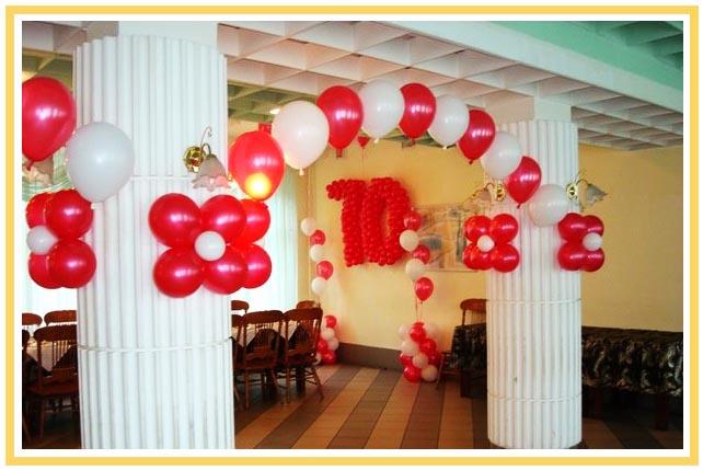 фото арки из воздушных шаров на юбилей: оформление юбилея шарами №5