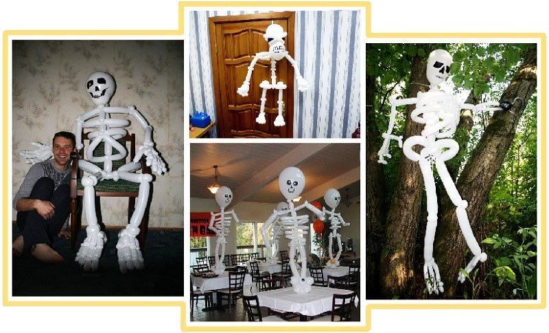 фото скелетов из воздушных шаров: пиратская вечеринка оформление
