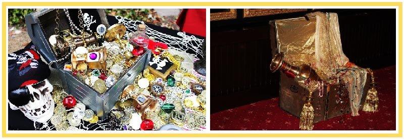 фото сундуков с сокровищами: пиратская вечеринка оформление