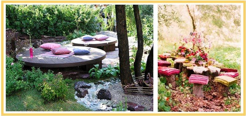 фото использования подушек для отдыха на природе: день рождения на природе оформление