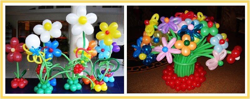 фото цветов из воздушных шаров на юбилей: оформление юбилея шарами