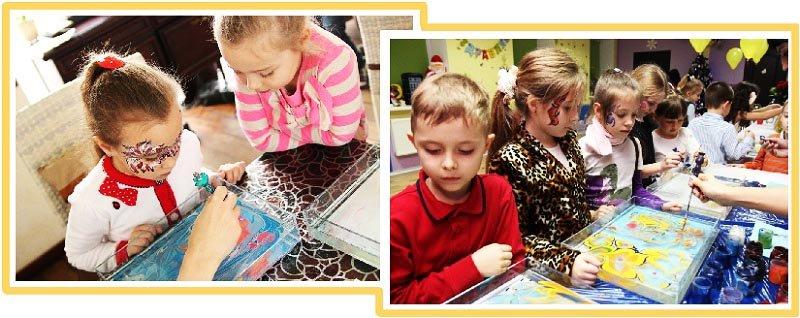 детям показывают как рисовать эбру: мастер-класс эбру на детский праздник