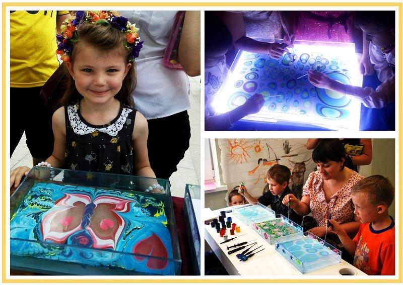 фото детей учащихся рисовать эбру: мастер-класс эбру на детский праздник