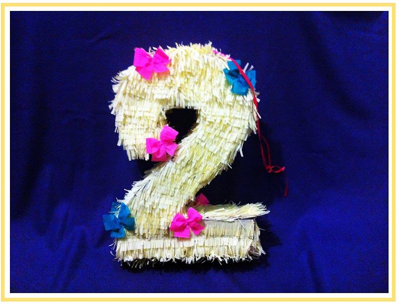 """фото мастер-класса по созданию пиньяты в форме цифры """"2"""": пиньята как сделать своими руками №11"""