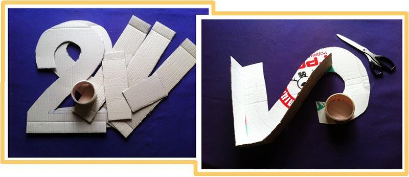 """фото мастер-класса по созданию пиньяты в форме цифры """"2"""": пиньята как сделать своими руками №3"""